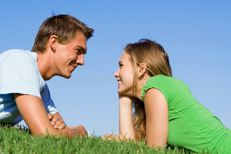 Download Happy young couple stock photo. Image of outside, smiling - 6166930