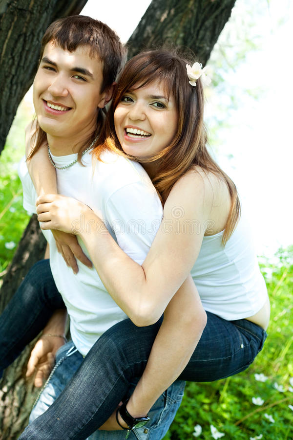 Download Happy young couple stock photo. Image of green, happy - 9723524