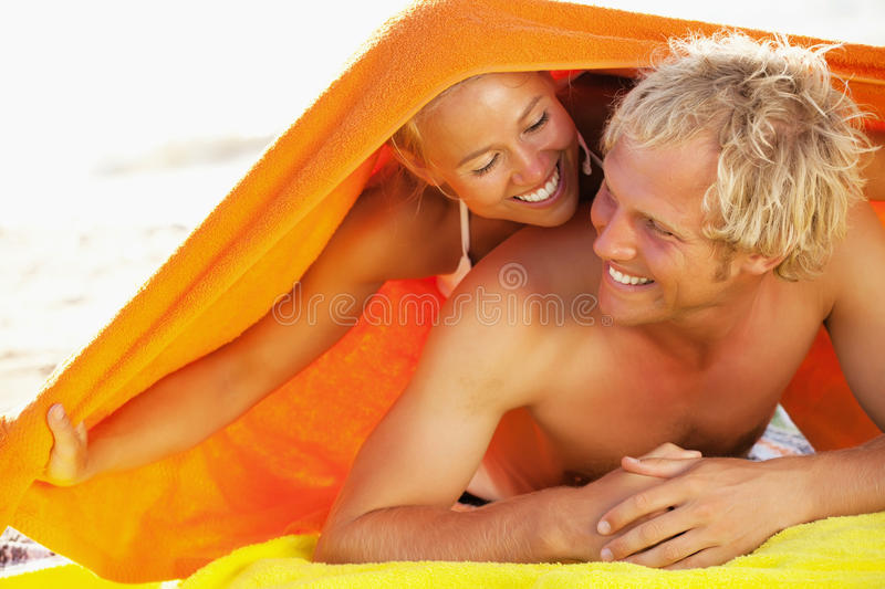Download Happy Young Couple On The Beach Stock Image - Image of health, life: 23845217
