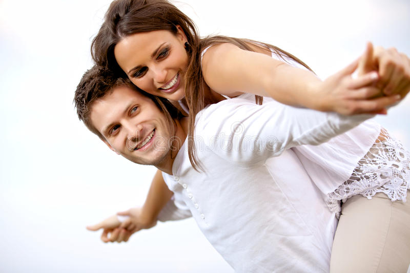 Download Happy Young Couple Having Fun Stock Photos - Image: 25973413