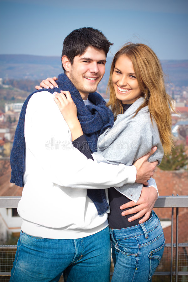 Download Happy Young Couple Having Fun Outside Stock Image - Image: 7058747