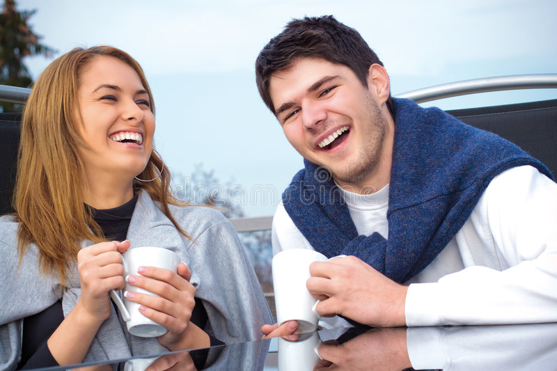 Happy Young Couple Having Fun Outside Royalty Free Stock Image