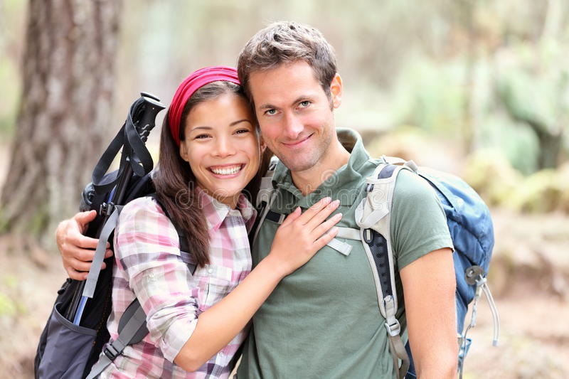Download Happy young couple hiking stock image. Image of asian - 20357199