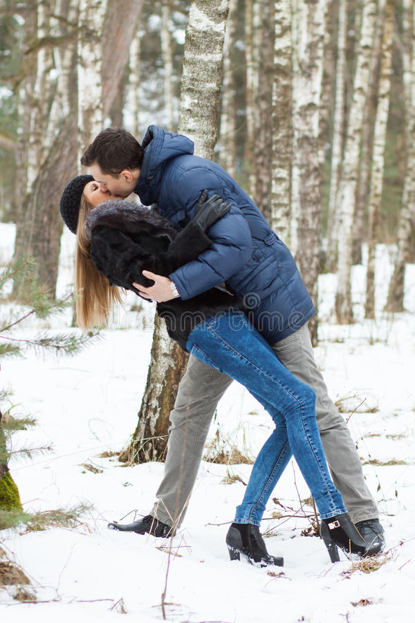 Free Happy Young Couple In Winter Royalty Free Stock Photos - 29790578
