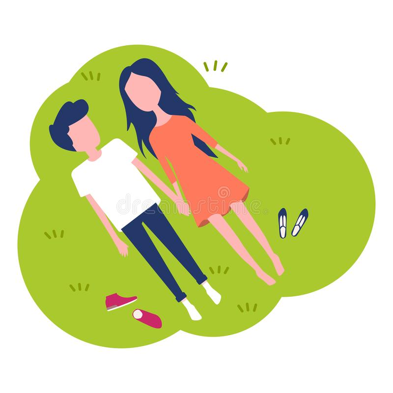 Happy young couple. royalty free illustration