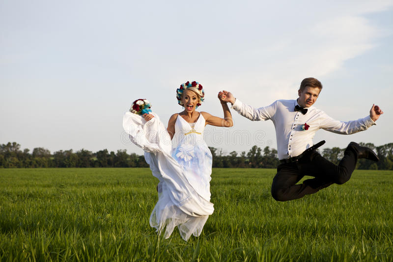 Happy young couple in love. A happy young couple in love stock image