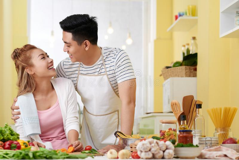 Cooking with love royalty free stock images