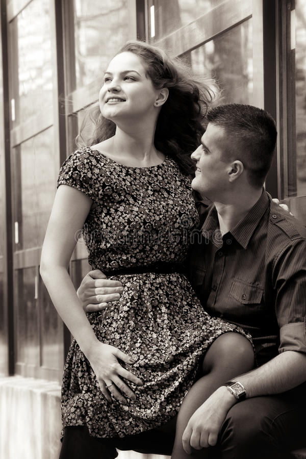 Download Happy young couple outdoor stock photo. Image of love - 23431258