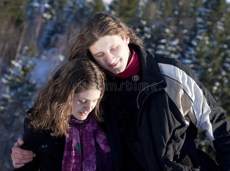 Download Happy Young Couple Outdoors Stock Image - Image of gentle, female: 17913471