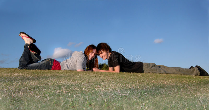 Download Happy Young Couple Outdoors Stock Photo - Image: 1869066
