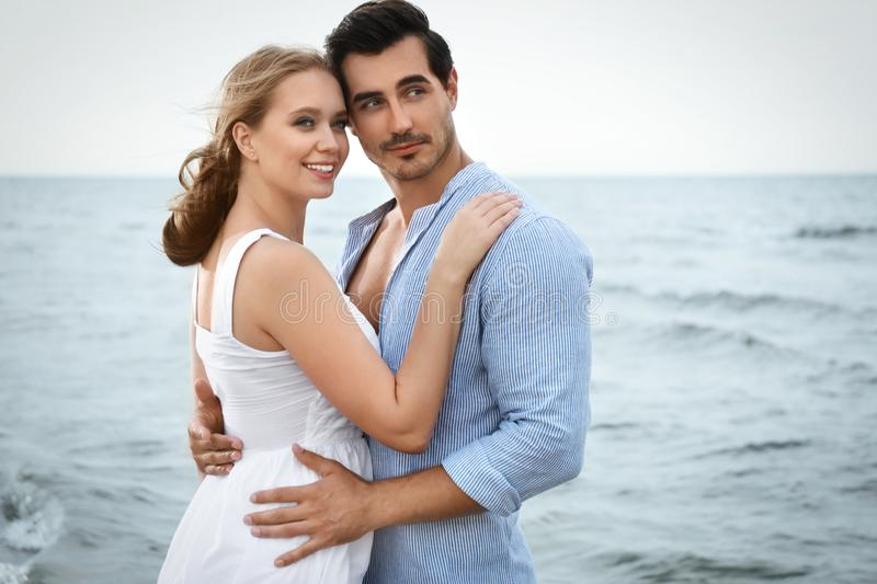 Happy young couple spending time stock photos