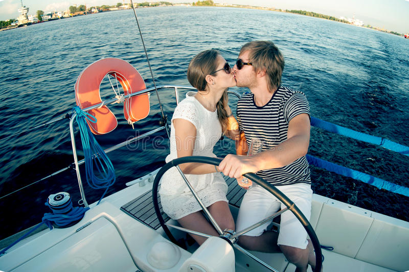 Download Happy Young Couple On A Yacht Stock Photo - Image: 34300994