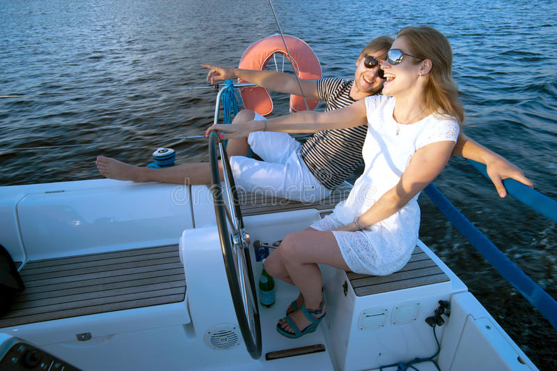 Download Happy Young Couple On A Yacht Stock Photo - Image: 34301012