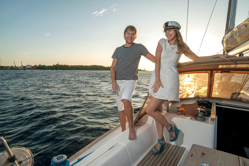 Download Happy Young Couple On A Yacht Stock Image - Image: 34301111
