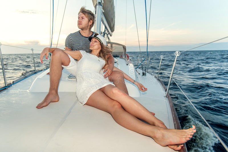 Download Happy Young Couple On A Yacht Stock Image - Image: 34301245