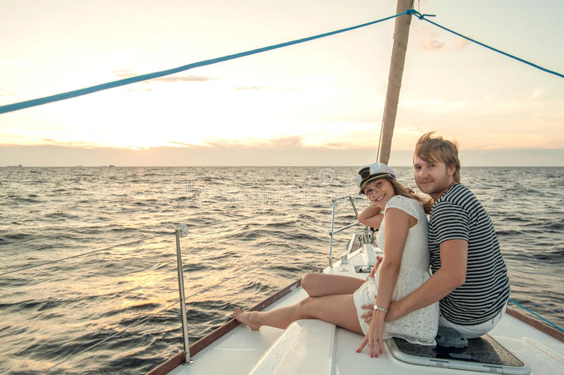 Download Happy Young Couple On A Yacht Stock Image - Image: 34301249