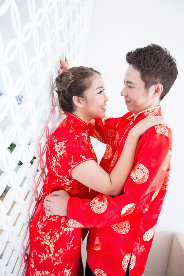 Happy Young Chinese Couples stock images