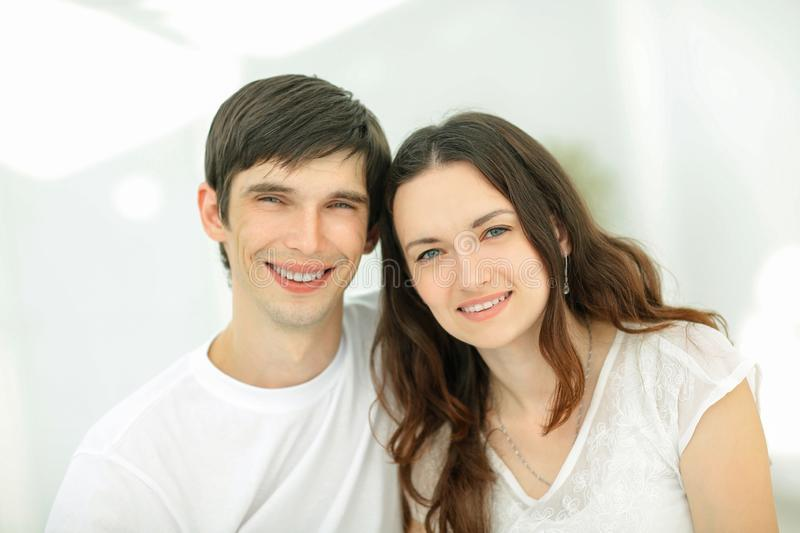 Happy young couples.the concept of family happiness stock photos