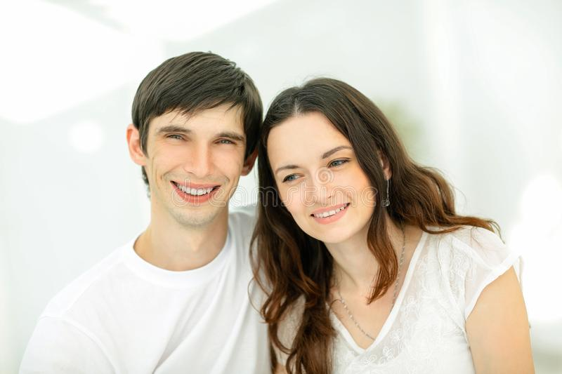 Happy young couples.the concept of family happiness stock photography