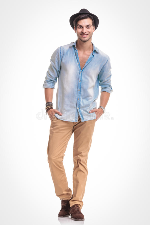 Happy Young Fashion Man Smiling At The Camera Stock Image
