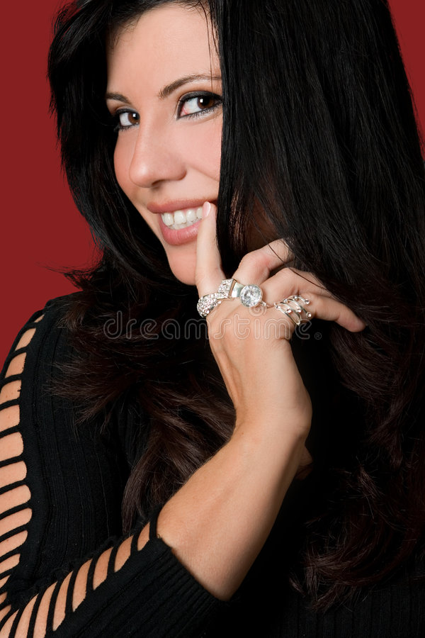 Happy young fashionable woman royalty free stock photos
