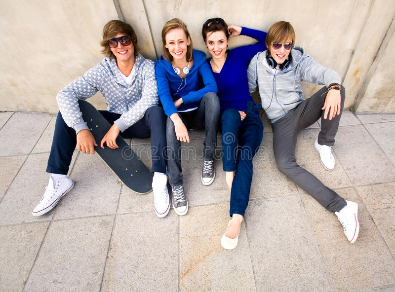 Download Happy young friends stock photo. Image of four, people - 11123460