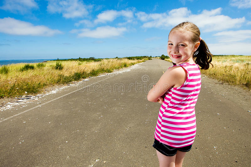 Download Happy young girl stock image. Image of blue, isolated - 20593637