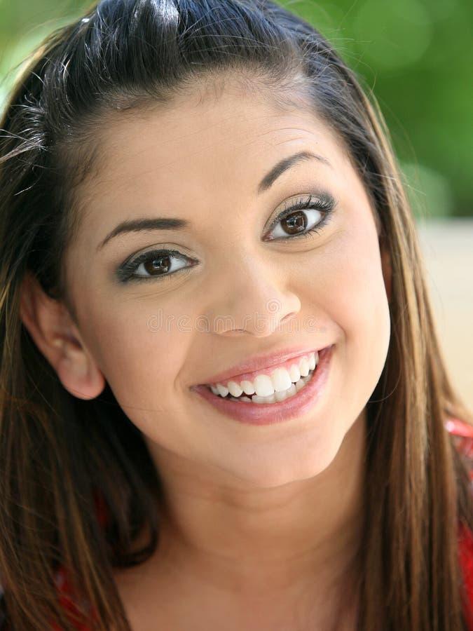 Happy young girl stock photo