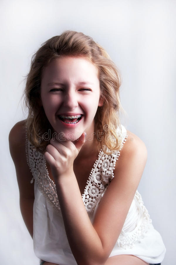 Free Happy Young Girl With Braces Royalty Free Stock Images - 20772179