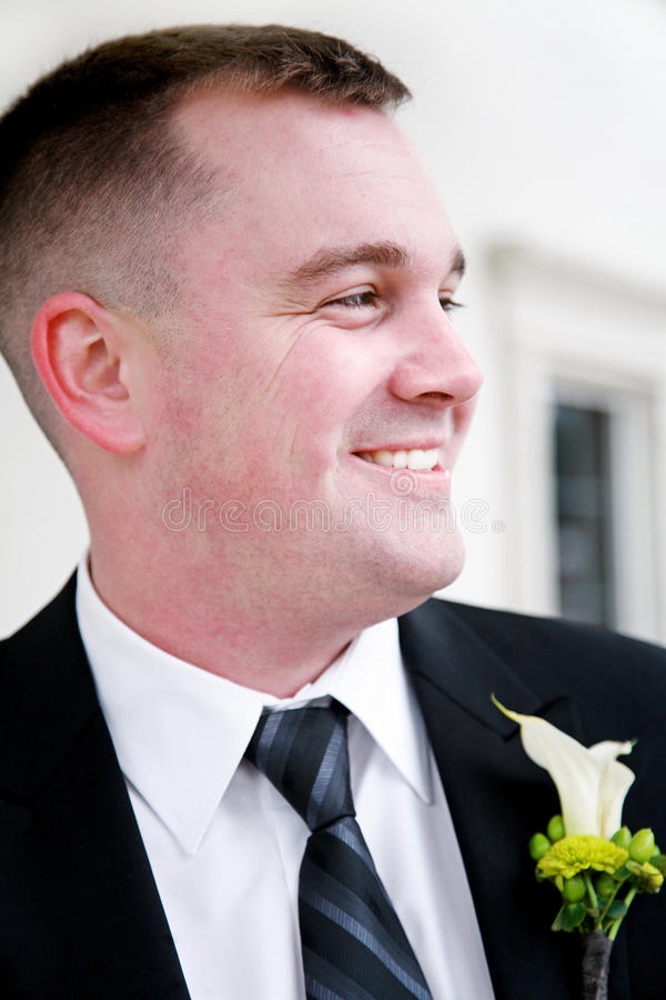 Happy Young Groom royalty free stock images