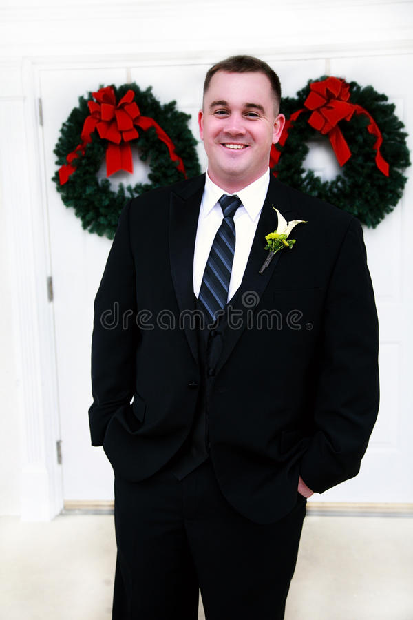 Happy Young Groom stock photography