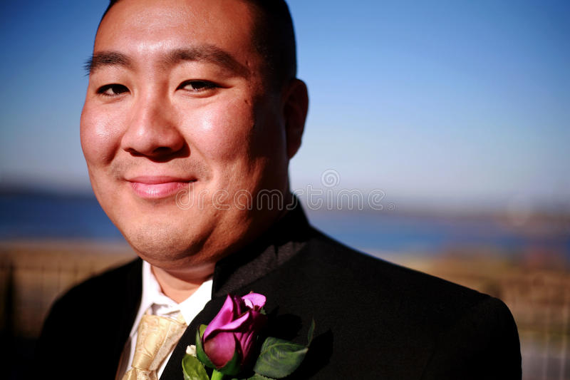 Happy Young Groom royalty free stock photography
