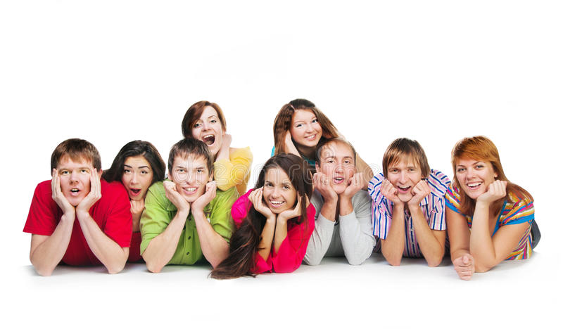 Download Happy Young Group Of People Stock Image - Image: 28046761