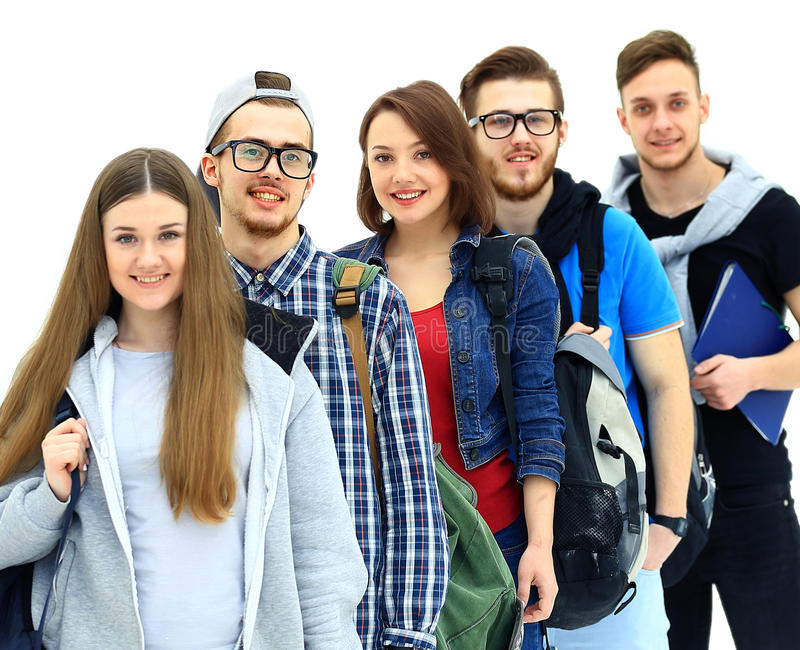 Happy young group of people royalty free stock image