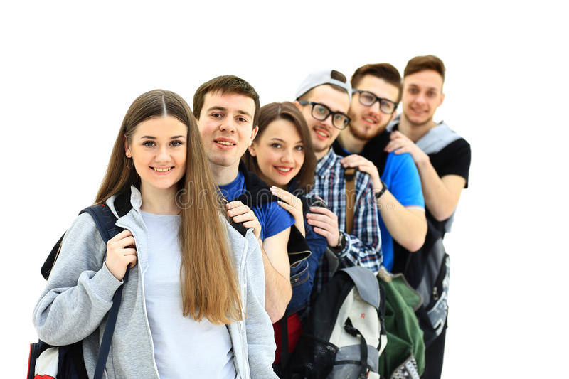 Happy young group of people royalty free stock photography