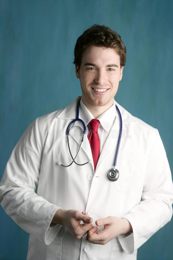 Happy young male doctor man smile handsome royalty free stock photos