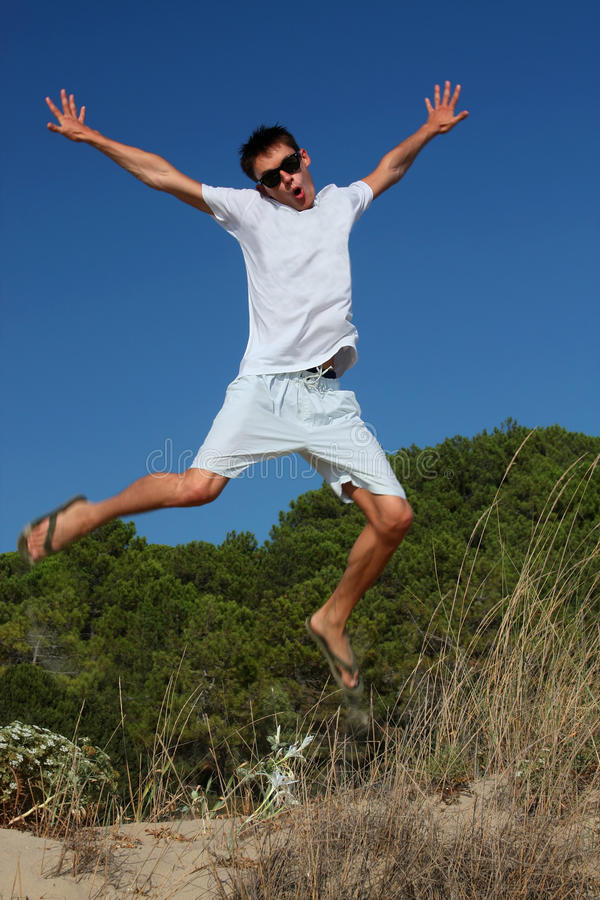 Happy young man royalty free stock photography