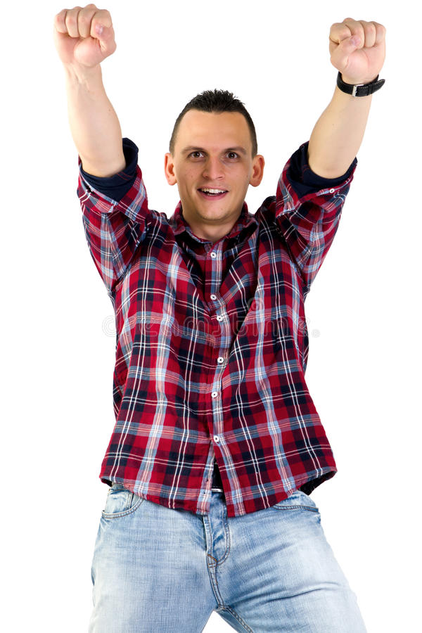 Happy young man royalty free stock image
