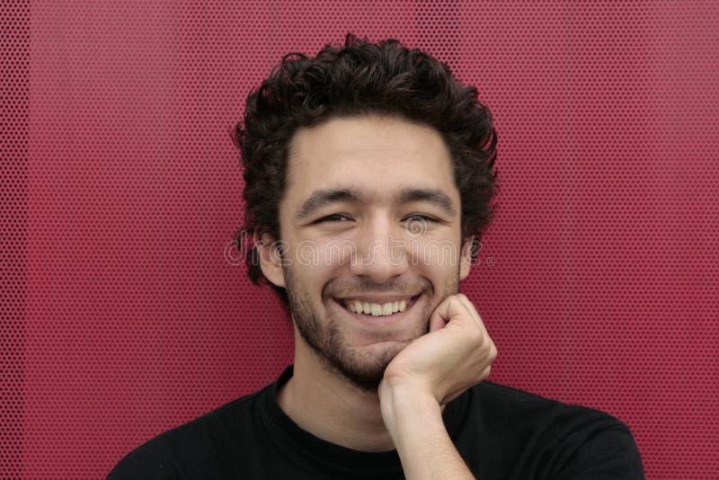 Happy young man stock photos