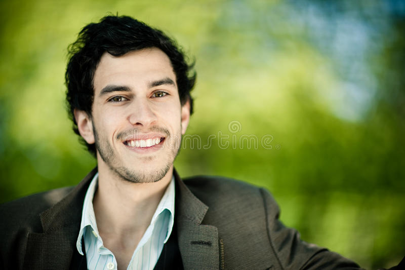 Happy young man outdoors