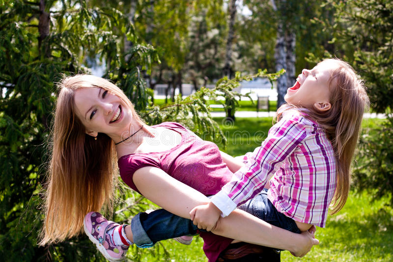 Download Happy Young Mother With Her Daughter Stock Image - Image: 26303833