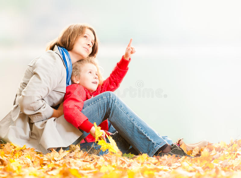 Happy young mother and small daughter. stock photography