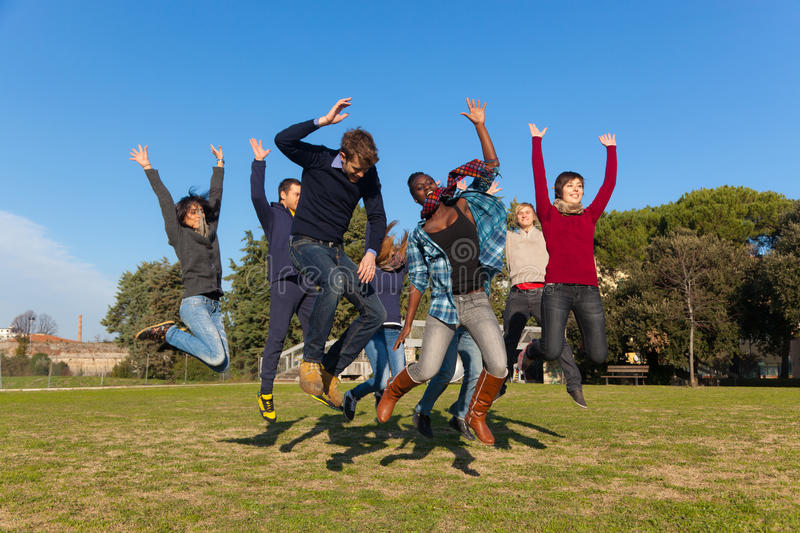 Happy Young People stock image