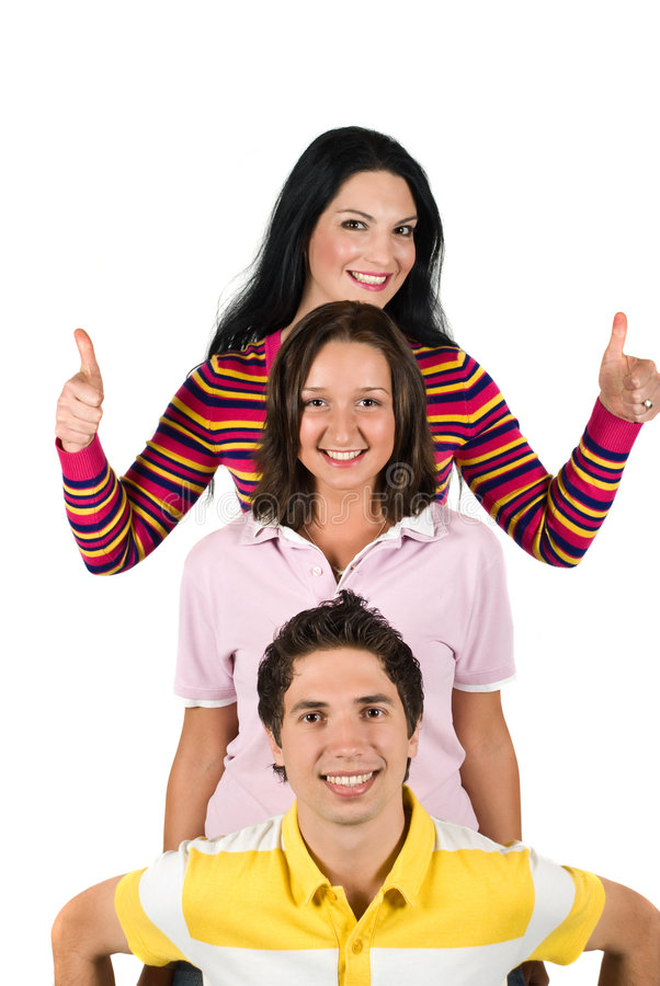 Download Happy  young people stock image. Image of gesture, collective - 9266753