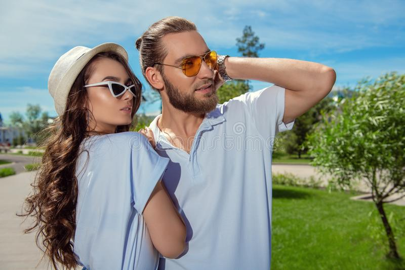 Boyfriend and girlfriend stock photo