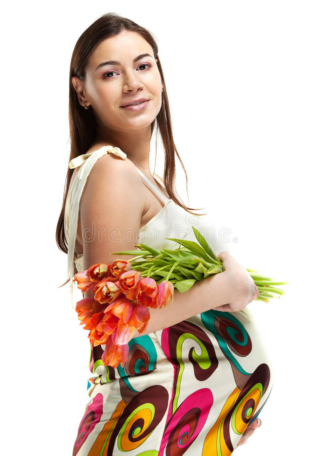 Download Happy young pregnant woman stock photo. Image of beauty - 26952668