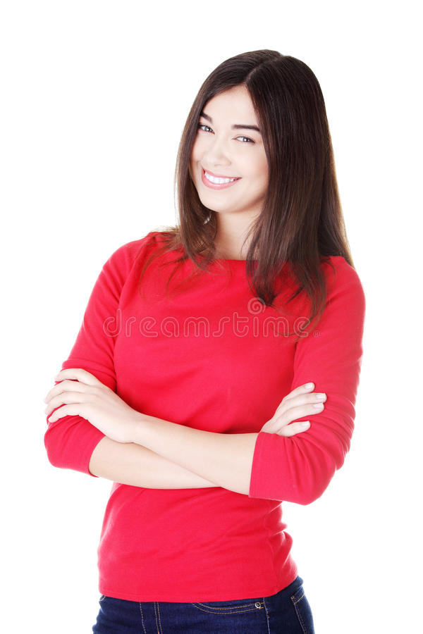 Download Happy Young Student Woman Stock Image - Image: 27042681