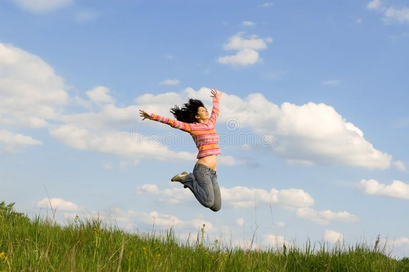 Happy young woman stock images