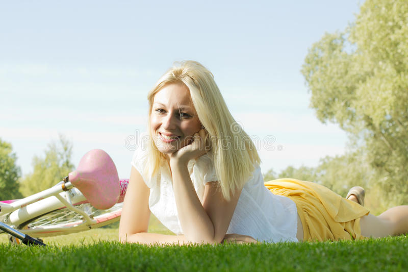 Happy young woman relaxing