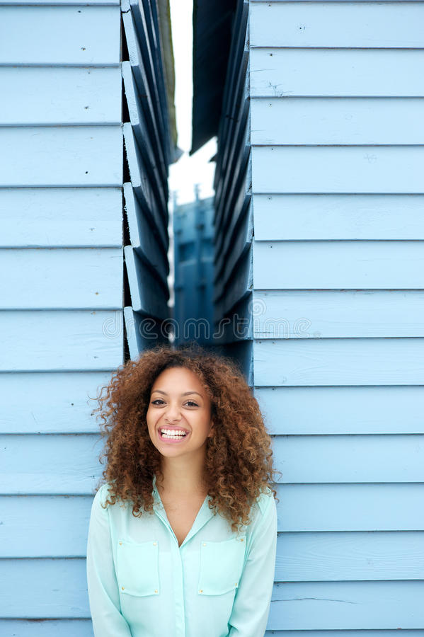 Download Happy Young Woman Smiling With Joyful Expression Stock Photo - Image: 33872660